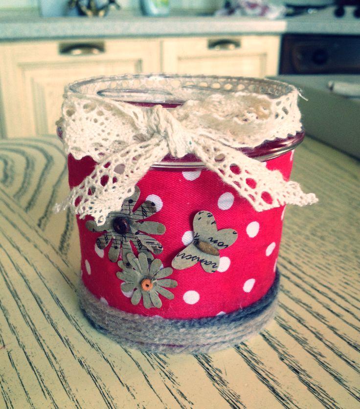 #craftyjar #dottyred #handmade #rossopois  E❤