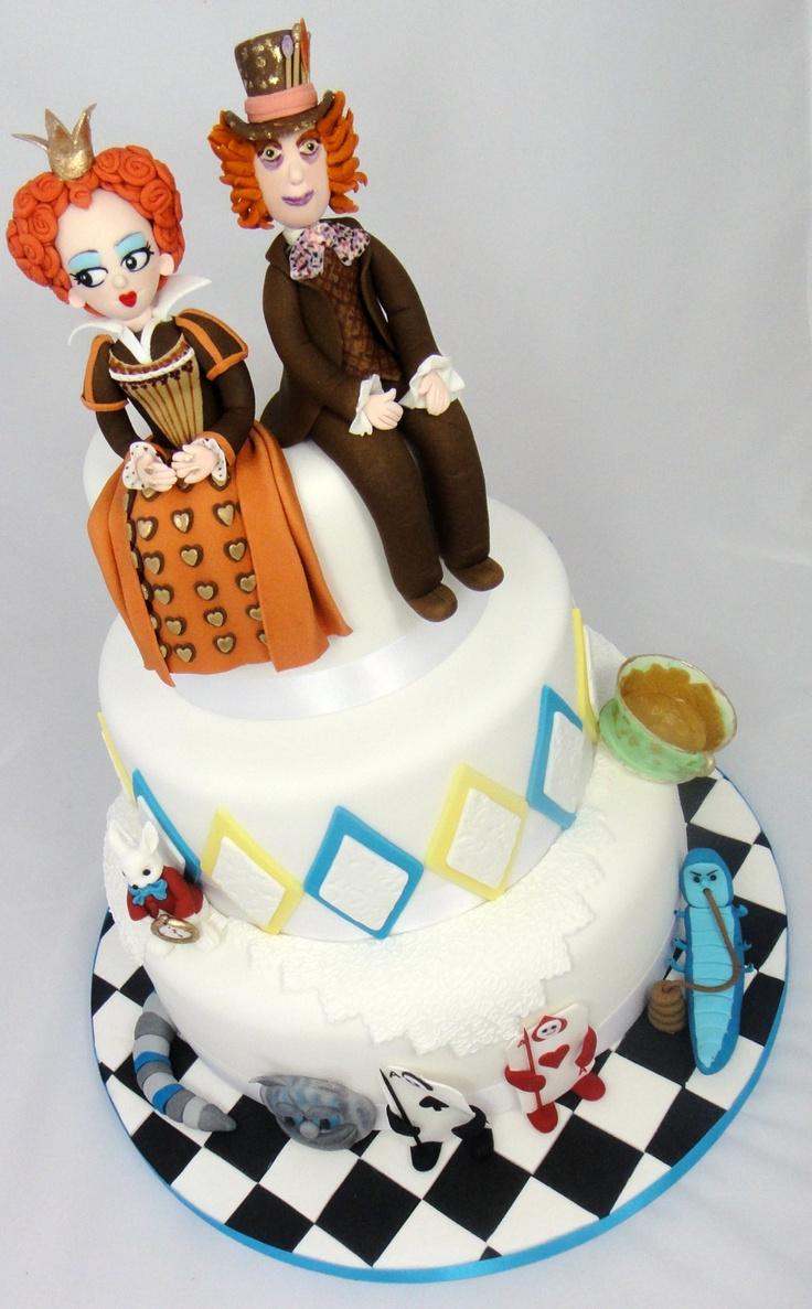 Madhatter Wedding Cake 07917815712 www.fancycakesbylinda.co.uk www.facebook.com/fancycakeslinda