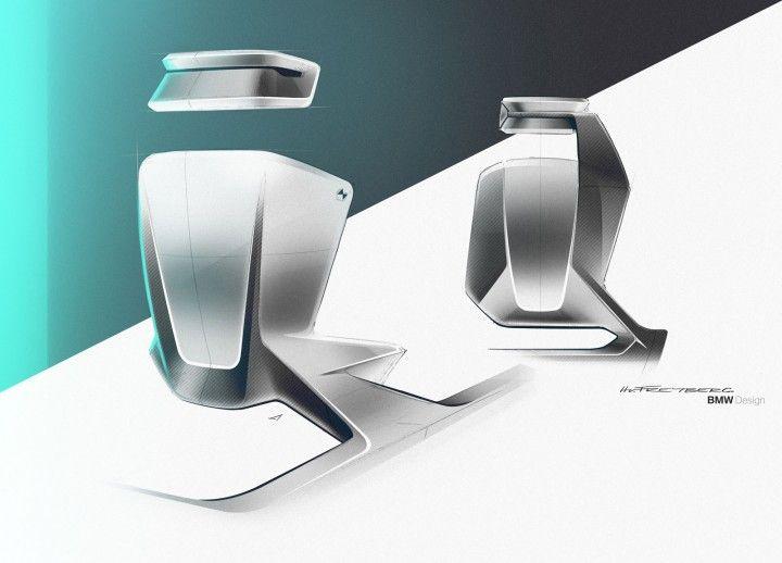 BMW Vision Next 100 Concept Interior Seat Design Sketches