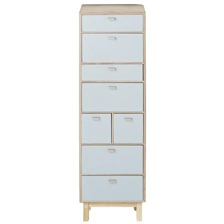 ACHICA | Bloomingville Chest of Drawers, Sky Blue