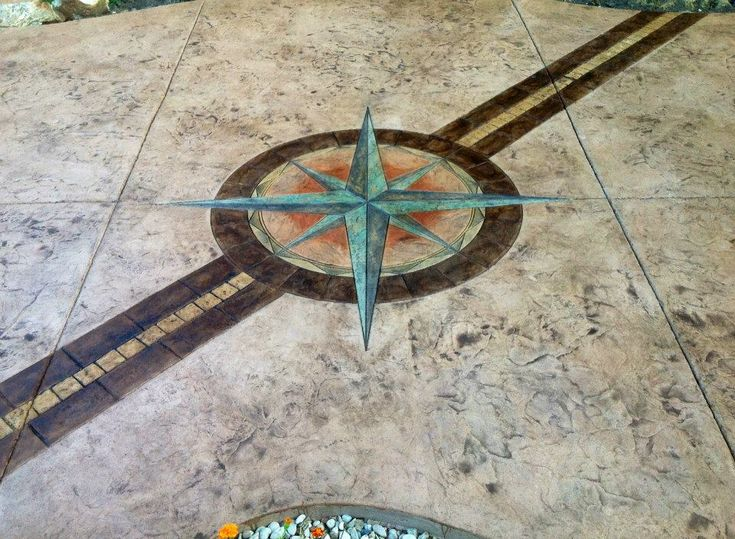 Stamped Concrete Medallions : Old world compass medallion md this amazing stamp