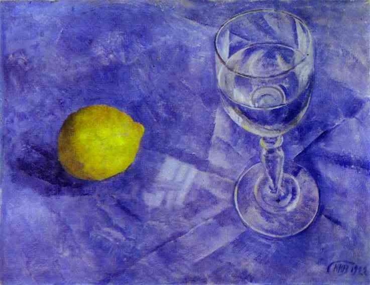 "Kuzma Petrov-Vodkin, ""Lemon and Glass"""