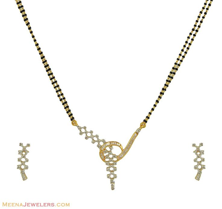 Diamond Sets Designs | Designer Diamond Mangalsutra Set ( Diamond MangalSutras )