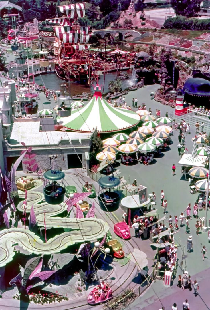 Daily Vintage Disneyland: Fantasyland from the Skyway around 1969 Blog http://mickeyphotosdisneyland.blogspot.com