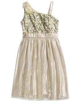 Gold Sparkle Party Dress