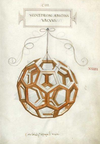 Drawing by Leonardo da Vinci for the Divine Proportion
