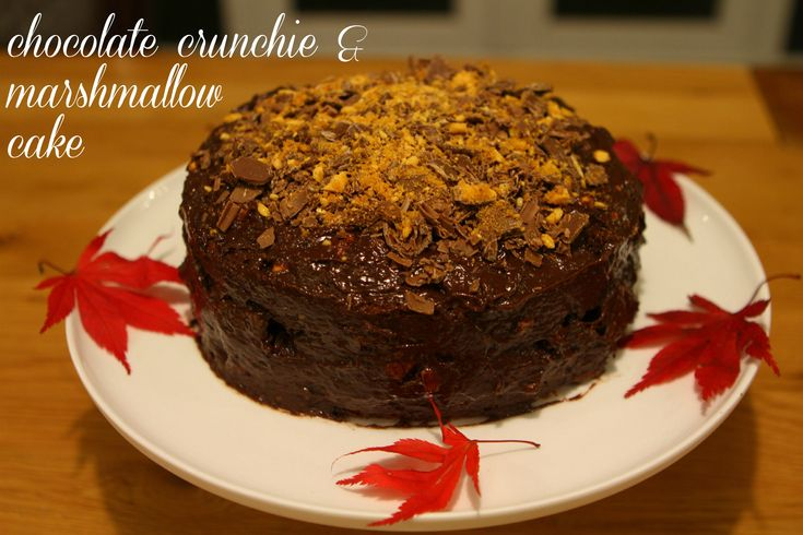 Chocolate Crunchie and Marshmallow Cake