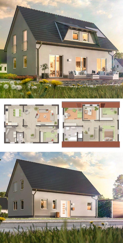 einfamilienhaus neubau mit satteldach architektur gaube