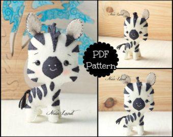 Cute raccoon PDF Pattern by Noialand on Etsy