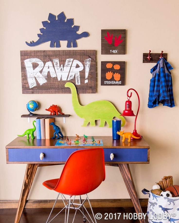 This darling dino decor is perfect for any little explorers space