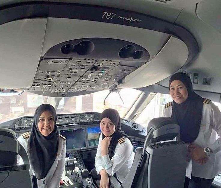 """In Brunei, Hijabi women are pilots In Saudi Arabia, women can't even drive. Don't blame Islam, blame the country!!"""