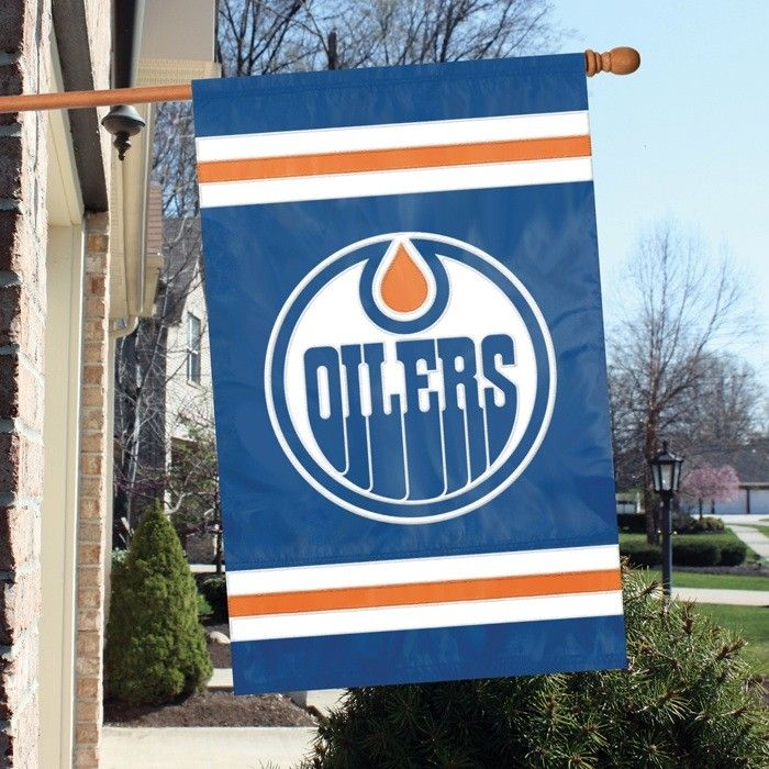 Edmonton Oilers House/Porch Embroidered Banner Flag 44X28