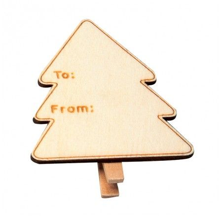 Tree Tag Clip Pack of 10 - Christmas Tags you can use over and over again! Environmentally friendly AND they look the goods!!