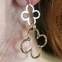 Boucles : Boucles d'oreilles double Trèfle Seventies Brin d'Amour