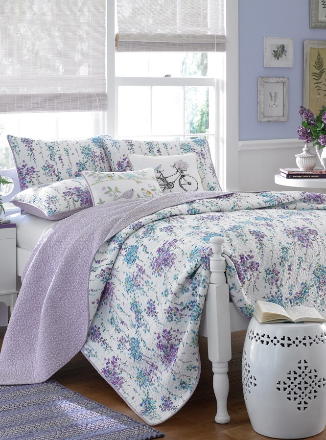 Laura Ashley Fugle Og Grene Quilt