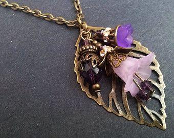 Zwart bloem oorbellen Zilveren bloem oorbellen door AzureAllure