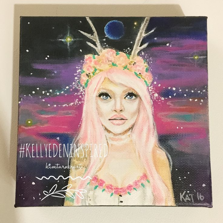 "A 6""x 6"" fangirl tribute to Kelly Eden... Deer Girl!"