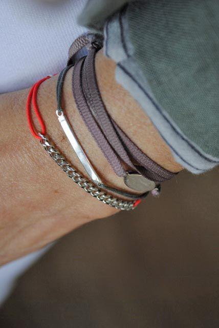 bracelet chaine et fil
