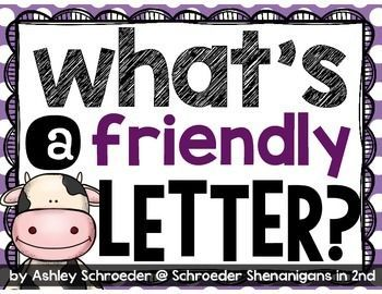 This FREEBIE for teaching about the 5 parts of a friendly letter corresponds with the read aloud Click Clack Moo