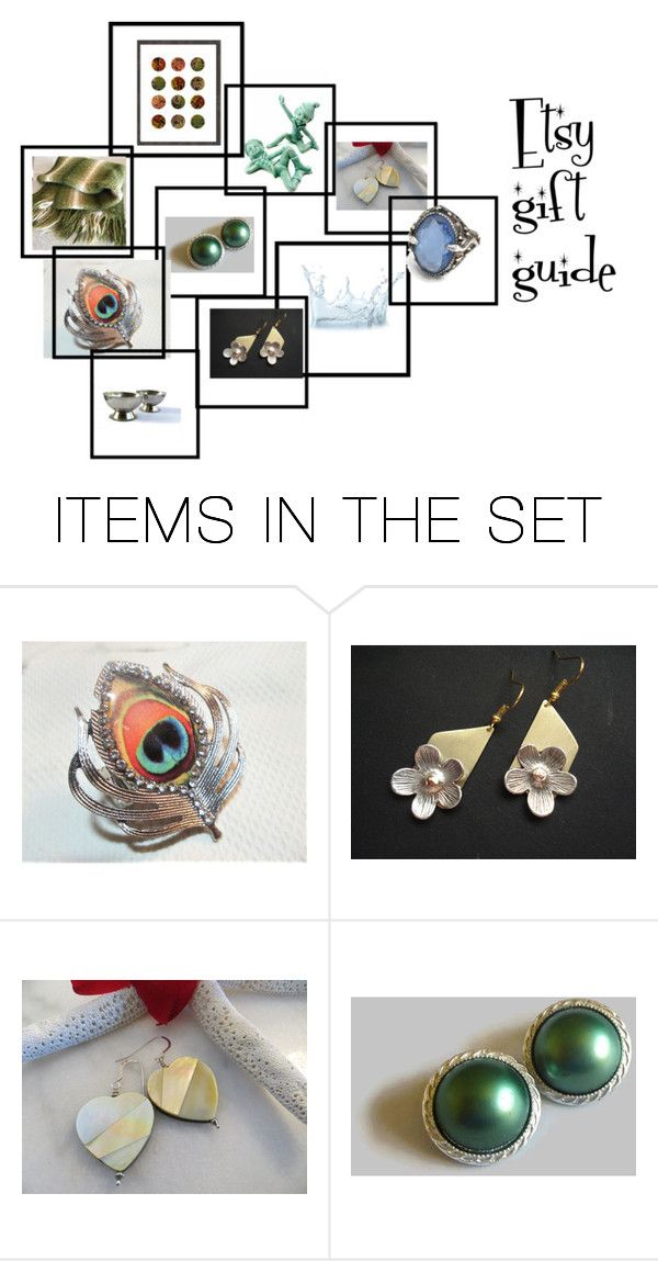 """""""Etsy gift guide"""" by underlyingsimplicity ❤ liked on Polyvore featuring art, vintage, jewelry and homedecor"""