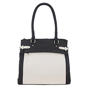 Rigtig flot taske i kontrast farver fra Depeche med flere lynlåsrum