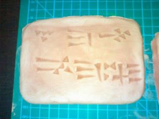 Waldorf ~ 5th grade ~ Ancient Mesopotamia ~ Cuneiform ~ clay tablet