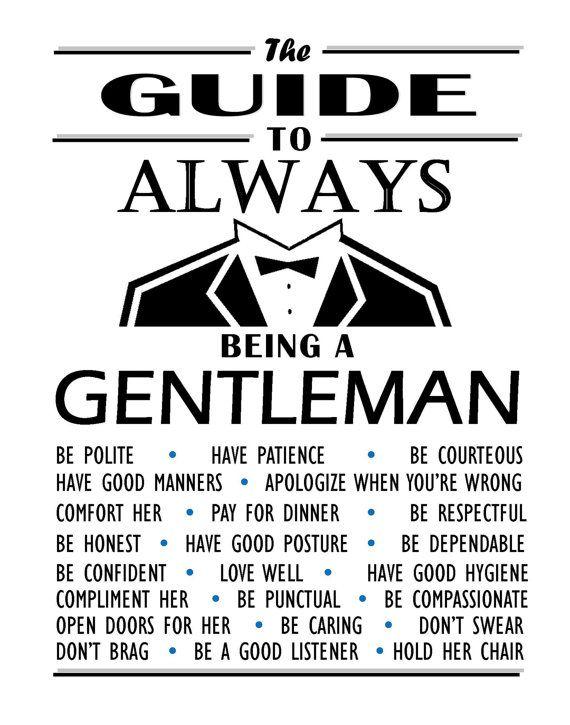 how to live like a gentleman