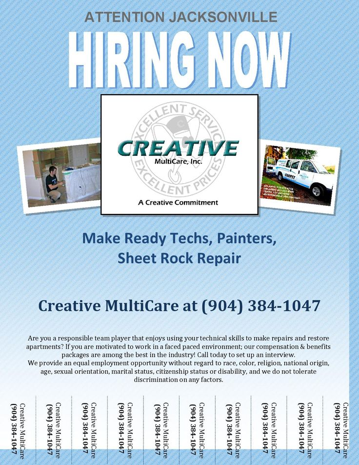 Jacksonville FL #job #opportunities. We are #hiring for painters, make ready techs, & sheet rock repair specialists! pic.twitter.com/K0Z5uEuKFj