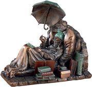 "Carl Spitzweg: Skulptur ""Der arme Poet"" (1839), Kunstguss"