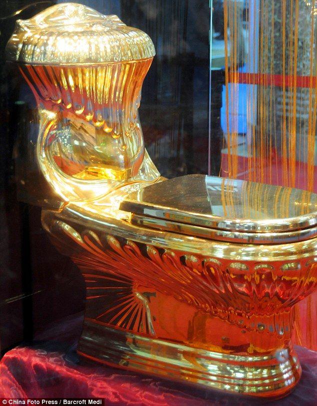 £129,000 golden throne luxury loo posh potty