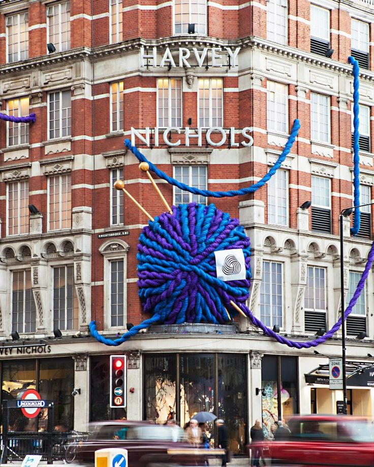 Retailers up and down the country are organizing events for their shops, groups, communities and schools to celebrate National Knitting Week. Check out this stunning installation by Harvey Nichols. What a beaut!