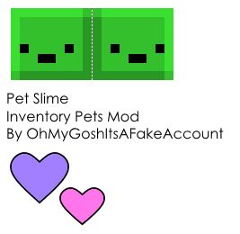 Papercraft Pet Slime (Inventory Pets Mod) (40th Follower Special)