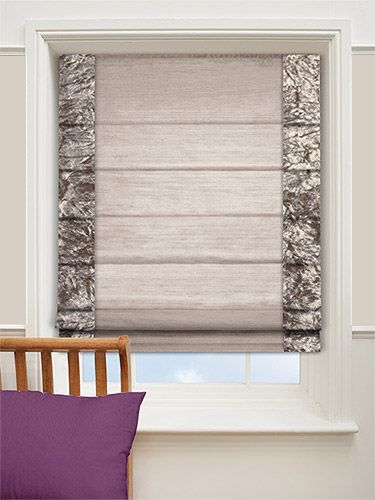 Faux Silk Crush Mink Roman Blind from Blinds 2go