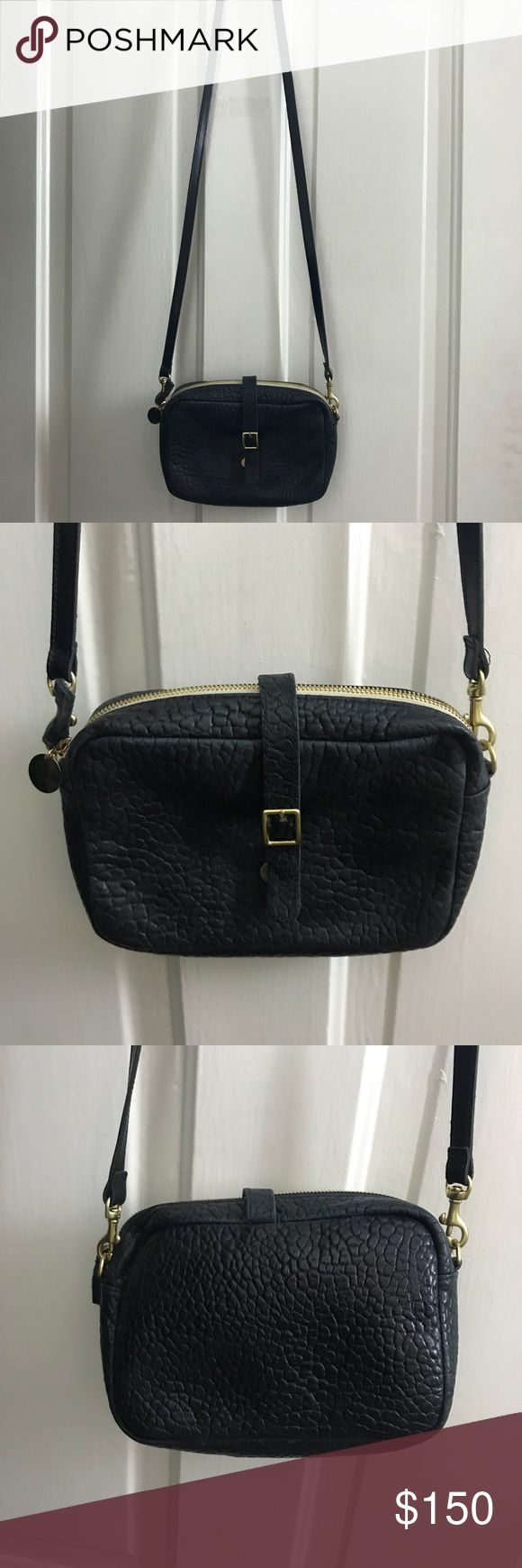 Clare V. Black pebble leather crossbody Great condition. Black leather. Crossbody. Perfect size. Big enough to fit a wallet and phone and keys and beauty supplies. Clare Vivier Bags Crossbody Bags