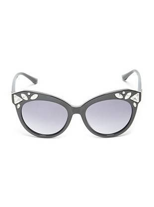 Embellished Round Sunglasses | shop.GUESS.com