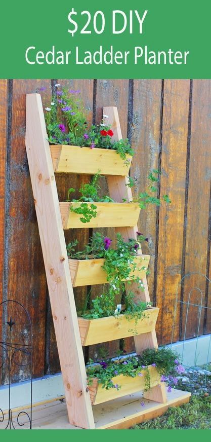 Vertical tiered ladder planter