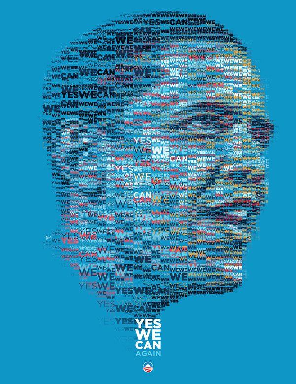 Greek graphic designer Charis Tsevis' posters of President Barack Obama commemorating his 2012 re-election.