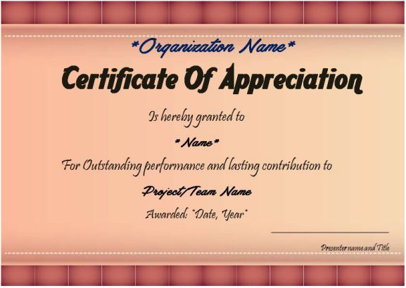 Thank You Certificate Template 25 Templates For Free Use