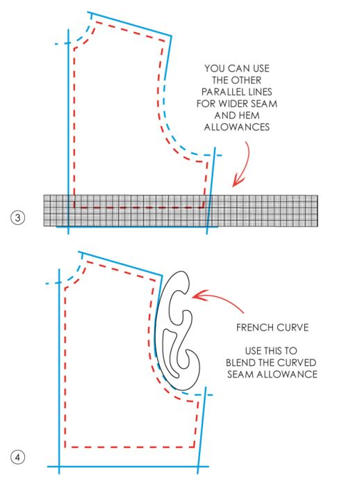 How to use grading rulers + french curve rulers