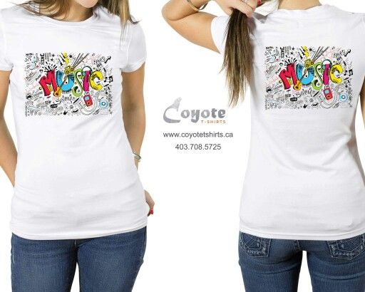 Music. www.coyotetshirts.ca 403.708.5725 No minimum, no setup fee, small order friendly, personal customization guaranteed, 24 to 48 hour turnaround, at 5534 1A ST SW Calgary. #Calgary #Alberta #Coyotetshirts #CustomTshirts #CalgaryAlberta #Halloween
