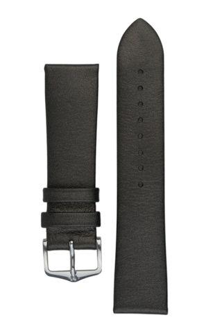 Hirsch CASHMERE Calf Leather Watch Strap in ANTHRACITE BLACK | HirschStraps