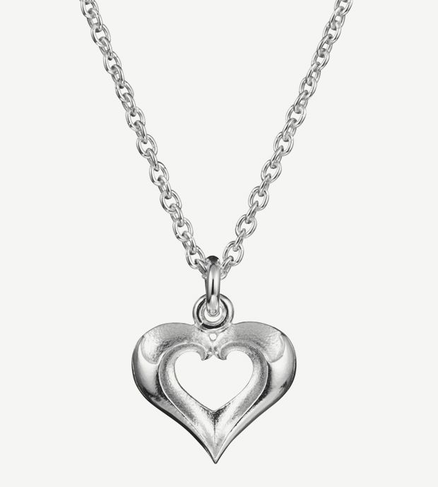 "Eelis Aleksi for Lumoava,""Lumikki"" (Snow White) sterling silver pendant.   Lumoava.fi #Finland #valentine #heart"