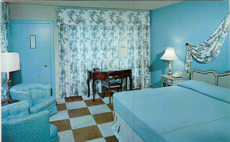 Jackson Motel & Restaurant~Murfreesboro TN~Blue Guest room