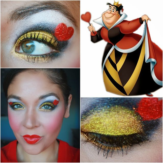 Agape Love Designs: Disney Villain: Queen Of Hearts Inspired Makeup