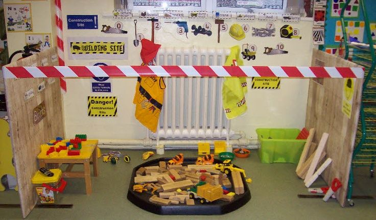 preschool dramatic play areas | construction zone dramatic play area