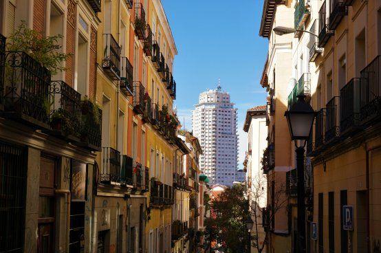 Torre de Madrid seen from Noviciado district