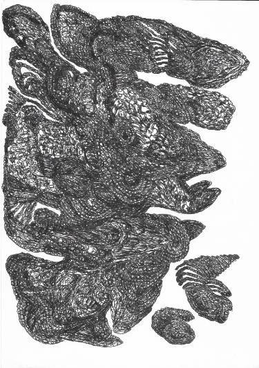 "Saatchi Art Artist Daria Magda  Błażek; Drawing, ""Bird"" #art"
