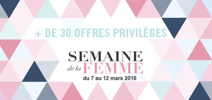 Chéquier Semaine de la Femme du 7 au 12 mars !  Découvrez nos partenaires qui vous font profiter d'offres  exceptionnelle dans votre polygone !
