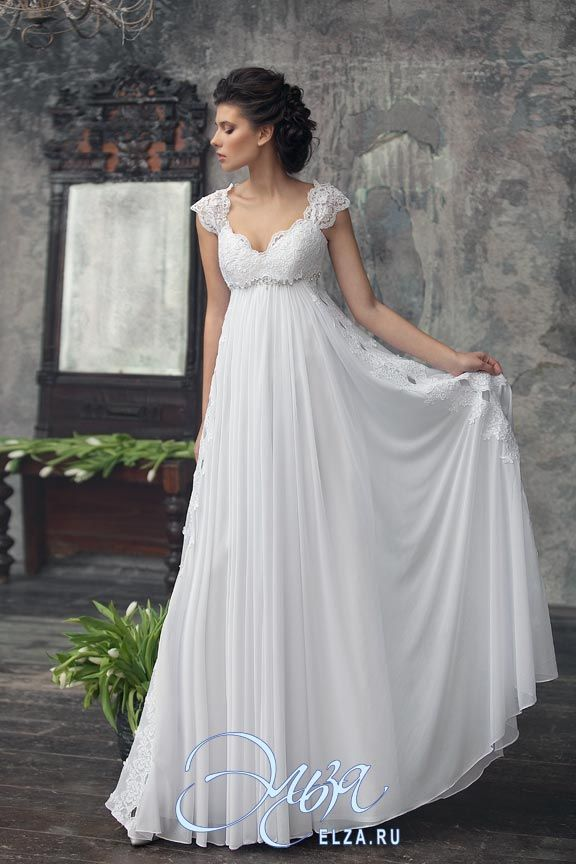 Cвадебное платье Авва: греческий стиль (ампир), пляжный стиль, длинное платье, с фигурным вырезом, с непышной юбкой, без шлейфа, модель до 2016 года, без рукавов, платье, эксклюзивное в Москве, в ограниченном количестве, подходит беременным, подходит высоким, подходит для венчания, для пляжной церемонии, с закрытой спиной, широкие бретельки