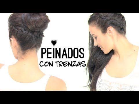 Peinados con trenzas Hairstyles with braids.